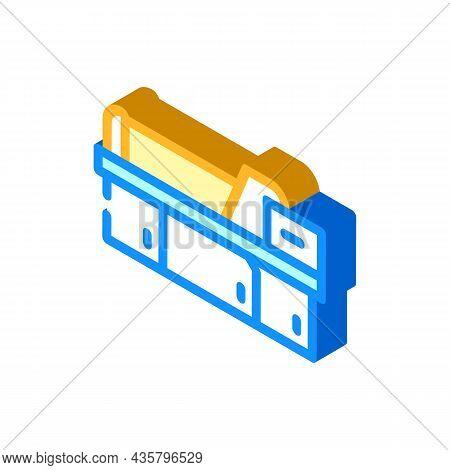 Metal Material Part Production Factory Machine Isometric Icon Vector. Metal Material Part Production