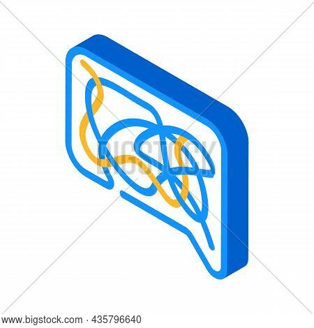 Confusing Dialogue Isometric Icon Vector. Confusing Dialogue Sign. Isolated Symbol Illustration