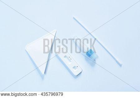 Antigen Test Kit For Checking Virus On White Background