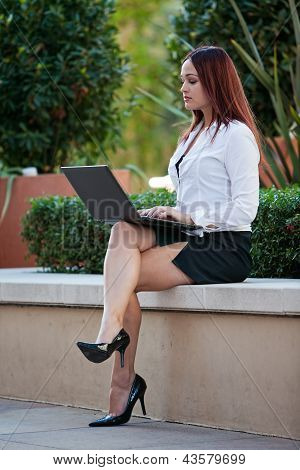 Pretty Brunette Native American Businesswoman