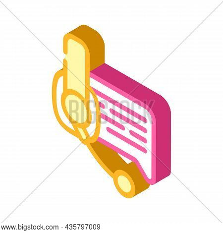 Online Support Advice Isometric Icon Vector. Online Support Advice Sign. Isolated Symbol Illustratio