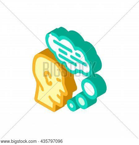 Speaking Human Isometric Icon Vector. Speaking Human Sign. Isolated Symbol Illustration
