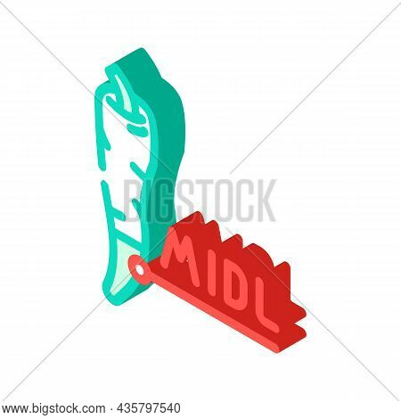 Middle Pepper Isometric Icon Vector. Middle Pepper Sign. Isolated Symbol Illustration