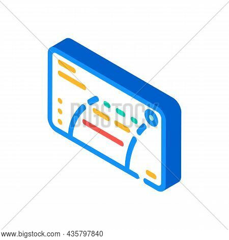 Car Rear View Camera Viewfinder Isometric Icon Vector. Car Rear View Camera Viewfinder Sign. Isolate