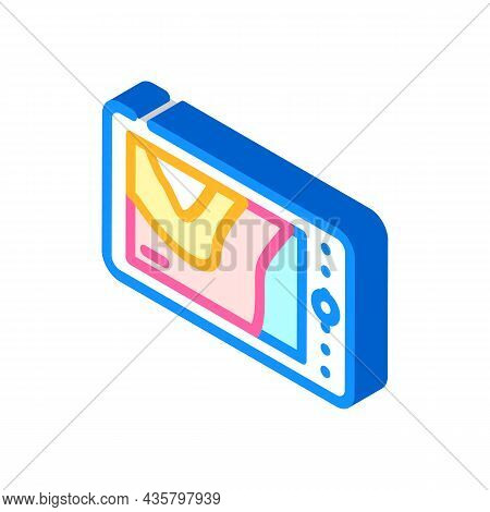 Thermal Imager Device Isometric Icon Vector. Thermal Imager Device Sign. Isolated Symbol Illustratio