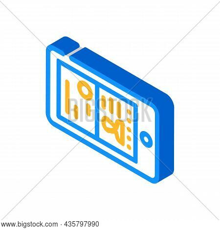 Photographing Documents Viewfinder Isometric Icon Vector. Photographing Documents Viewfinder Sign. I