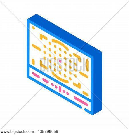 Photo Camera Display Isometric Icon Vector. Photo Camera Display Sign. Isolated Symbol Illustration