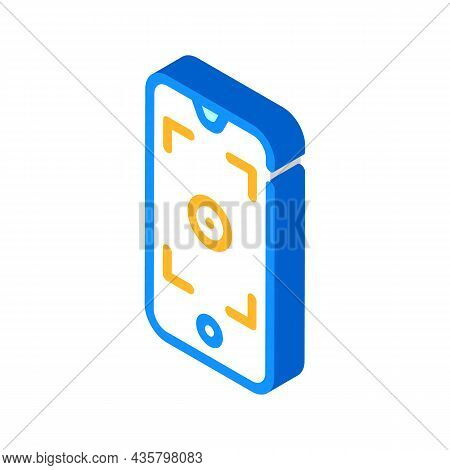 Smartphone Viewfinder Isometric Icon Vector. Smartphone Viewfinder Sign. Isolated Symbol Illustratio