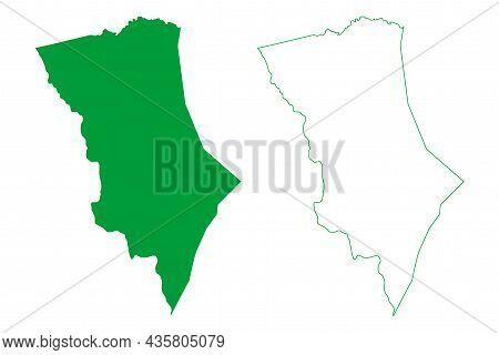 Uibai Municipality (bahia State, Municipalities Of Brazil, Federative Republic Of Brazil) Map Vector