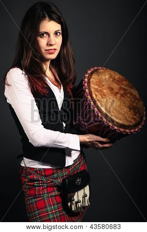 Girl With Djembe