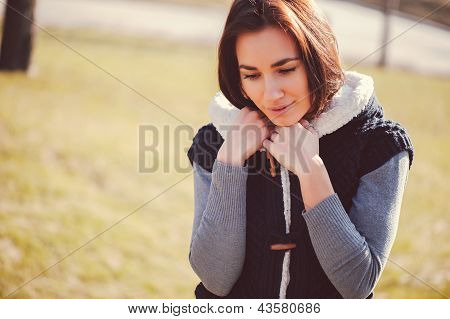 Young Thoughtful Woman