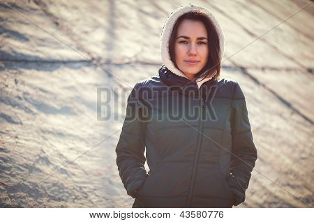 Lonely Girl Outdoor