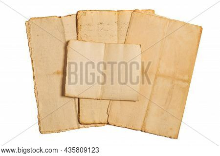 Stacked Old Sheets Group Isolated On White