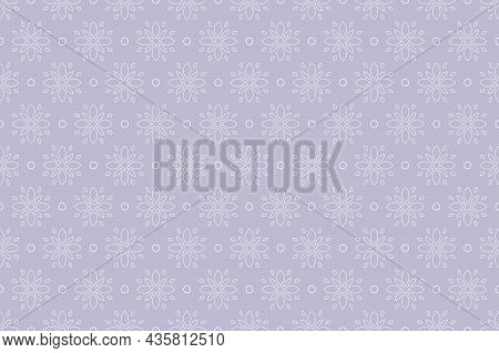 Vector Seamless Floral Background - Hand Drawn Delicate Ornament Pattern. Elegant Endless Print
