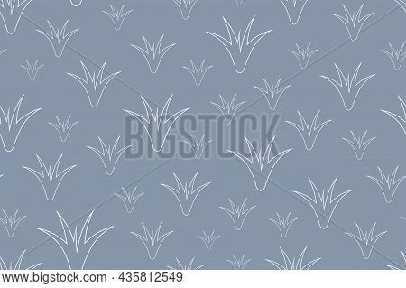 Vector Seamless Floral Background - Hand Drawn Delicate Pattern. Trendy Print