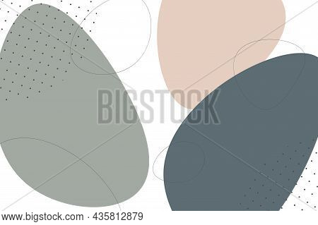 Vector Fashion Background. Delicate Painting Pattern. Abstract Stylish Cover. Drawing Trendy Design