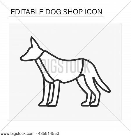Clothes Line Icon. Funny Suit For Dogs. Shopping. Beautiful Clothing For Cold Weather. Shop Concept.