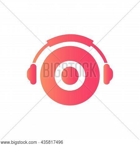 Headphone Template On O Letter. Letter O Music Logo Design. Dj Music And Podcast Logo Design Headpho