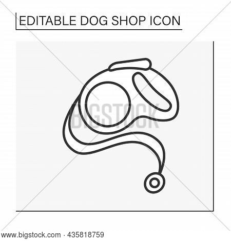 Leash Line Icon.cord, Strap For Held In Check Dogs.shop Concept. Isolated Vector Illustration. Edita