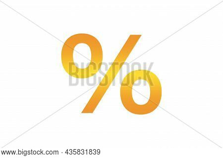 Percentage Icon, Close-up, On A Color Background