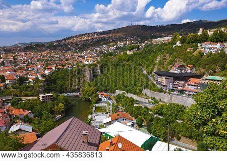 Cityscape of Sarajevo - Bosnia and Herzegovina - architecture travel background