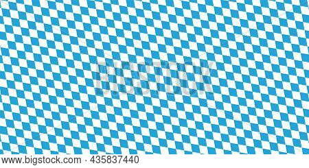 Oktoberfest Pattern With Blue And White Rhombus Flag Of Bavaria Oktoberfest Blue Checkered Wallpaper