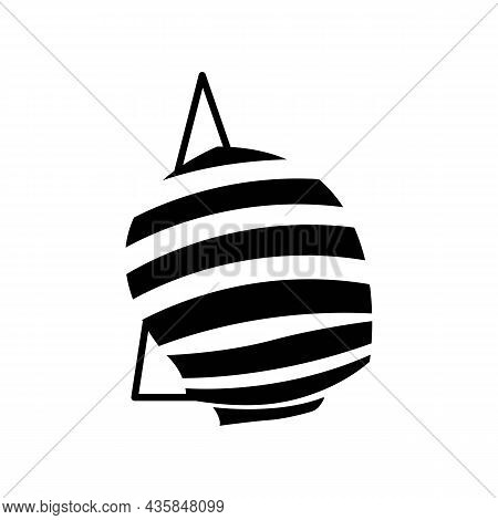 Fancy Yacht Club Black Icon, Silhouette. Yacht Boat With Sails. Design Element For Business. Trendy
