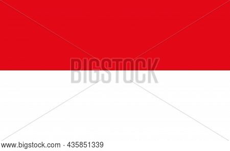 Indonesia Flag. Icon Of National Culture Of Indonesia. Official Indonesian Emblem And Badge. Square