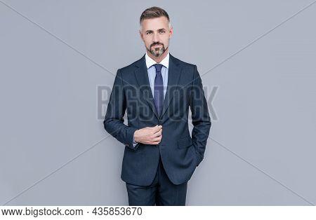 Confident Businessman Man In Businesslike Suit, Boss