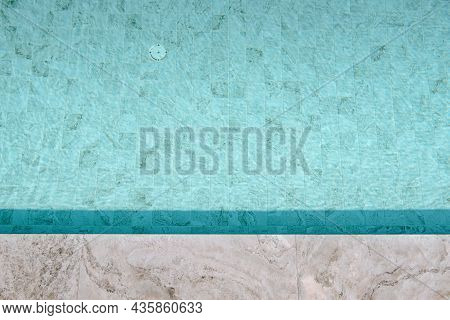 Abstract Background Tiles Floor Of Swimming Pool, Texture Pattern Of Tile Flooring Of Outdoor Poolsi