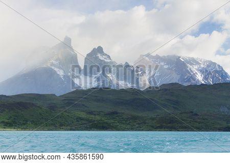 Cuernos Del Paine View, Torres Del Paine National Park,chile. Chilean Patagonia Landscape