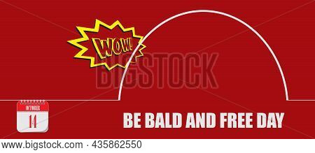 Card For Event October Day Be Bald And Free Day