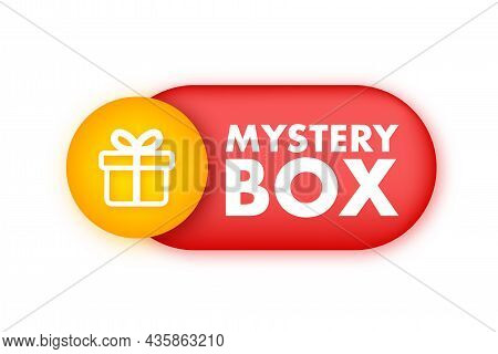 Mystery Box Banner. Packaging For Concept Design. Surprise Present. Package Design. Help Symbol. Que