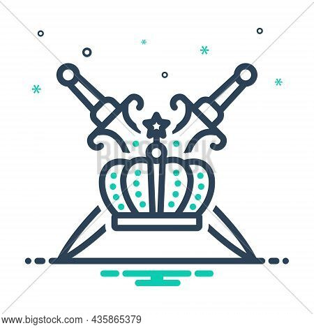 Mix Icon For Royalty Sword Authority Kingship Crown Emperor Imperial Kingdom Dynasty