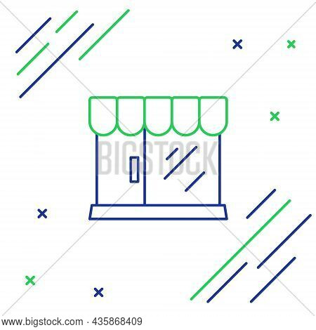 Line Barbershop Building Icon Isolated On White Background. Colorful Outline Concept. Vector