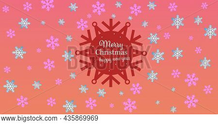 Image of merry christmas text over snow icons. christmas, winter, tradition and celebration concept digitally generated image.