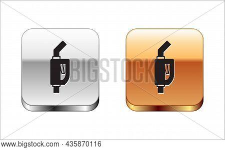 Black Gasoline Pump Nozzle Icon Isolated On White Background. Fuel Pump Petrol Station. Refuel Servi