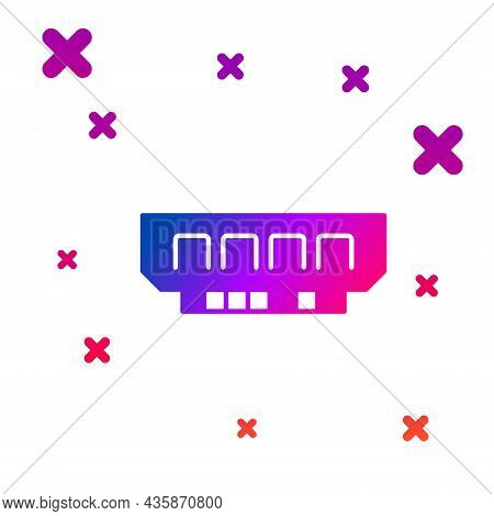 Color Ram, Random Access Memory Icon Isolated On White Background. Gradient Random Dynamic Shapes. V