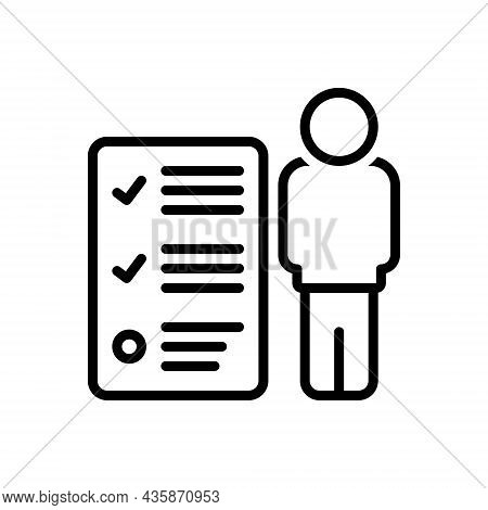 Black Line Icon For Responsibilities Authority Burden Duty Power Liability