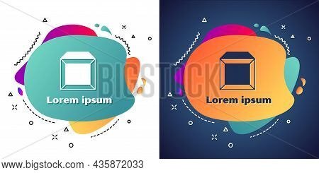 White Carton Cardboard Box Icon Isolated On White And Blue Background. Box, Package, Parcel Sign. De