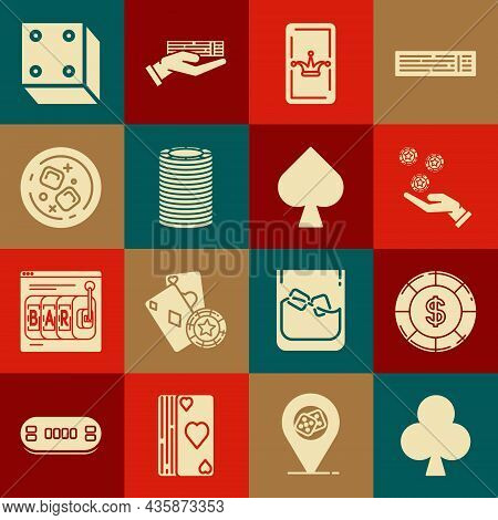 Set Playing Card With Clubs Symbol, Casino Chip Dollar, Hand Holding Casino Chips, Joker Playing, Gl