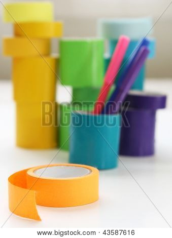 Rolls Of Tape With Markers