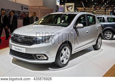 Dacia Sandero Car Showcased At The Paris Motor Show. Paris, France - October 2, 2018.