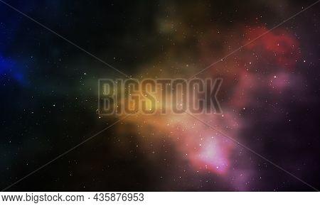 Realistic Infinite Universe Starry Night Nebula Shining Stardust Magic Color Galaxy Background Vecto