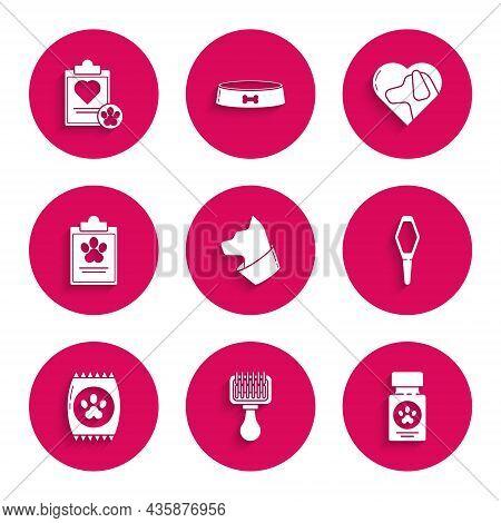 Set Cat, Hair Brush For Dog And Cat, Dog Medicine Bottle Pills, Pets Vial Medical, Bag Of Food Pet,