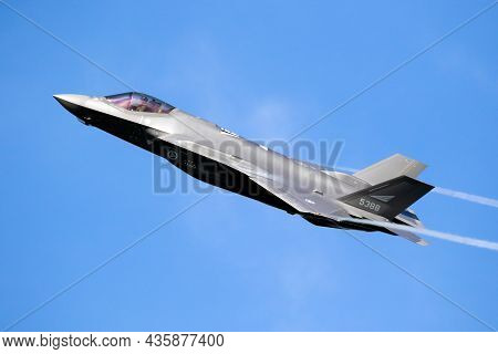 Lockheed Martin F-35 Lightning Ii Stealth Multirole Combat Aircraft From The Royal Norwegian Air For