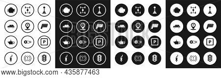 Set Gear Shifter, Location With Parking, Car, Check Engine, Mirror, Chassis Car, Parking And Caniste