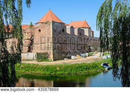 Renovated Old Historical Buildings  Of Fagaras Fortress (cetatea Fagaras) During Renovation Works In