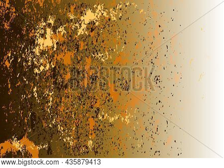 Abstract Background With Grunge Pattern As Artistic Illustration - Brown-beige Gradient With Rough T