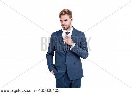 Business Success. Successful Man In Businesslike Suit. Professional Entrepreneur